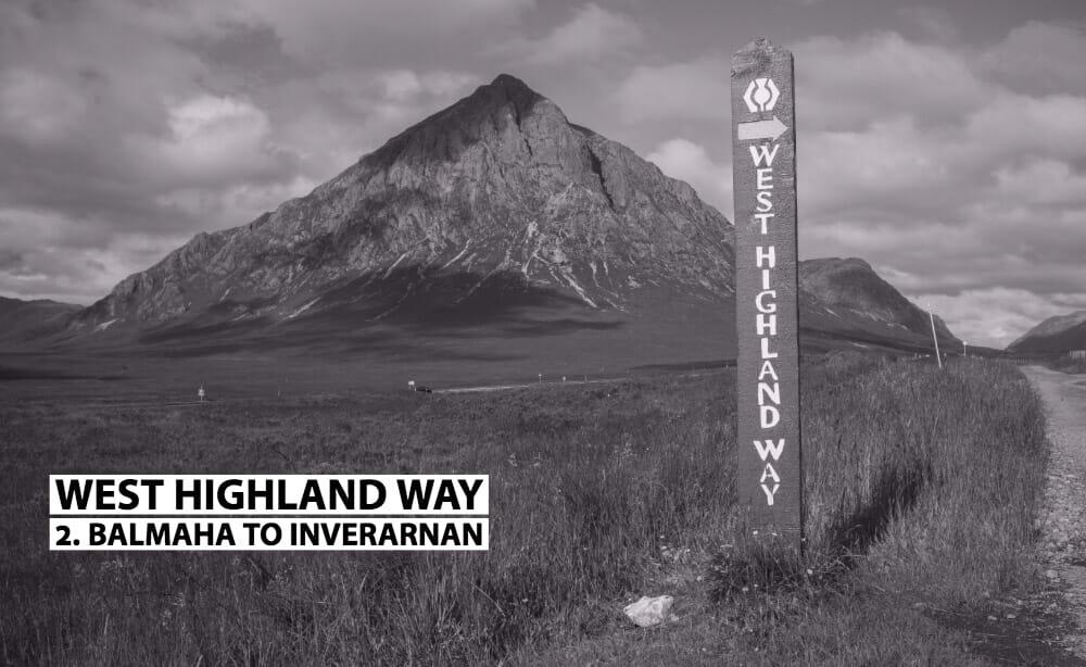 Balmaha to Inveranan West Highland Way sign
