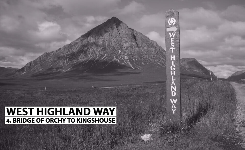 Bridge of Orchy to Kingshouse WHW sign