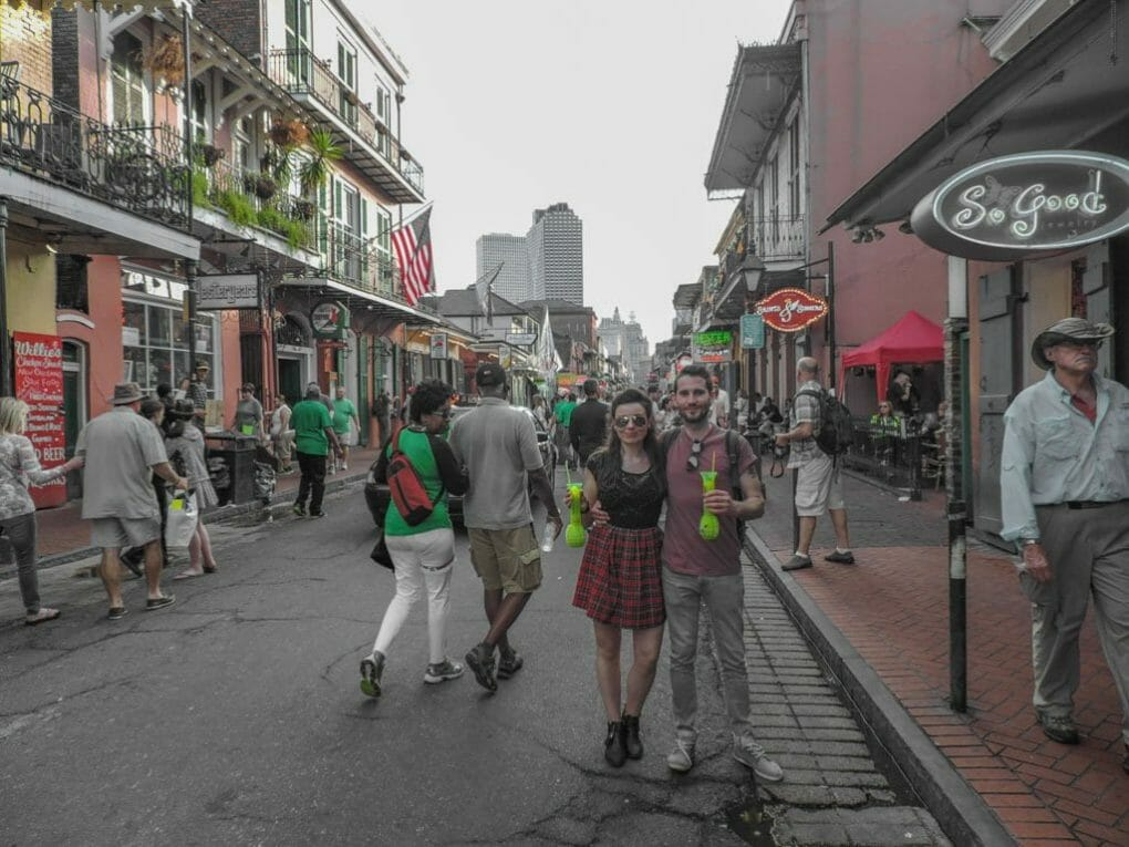 Things to do in New Orleans I Bourbon Street Hand Grenades