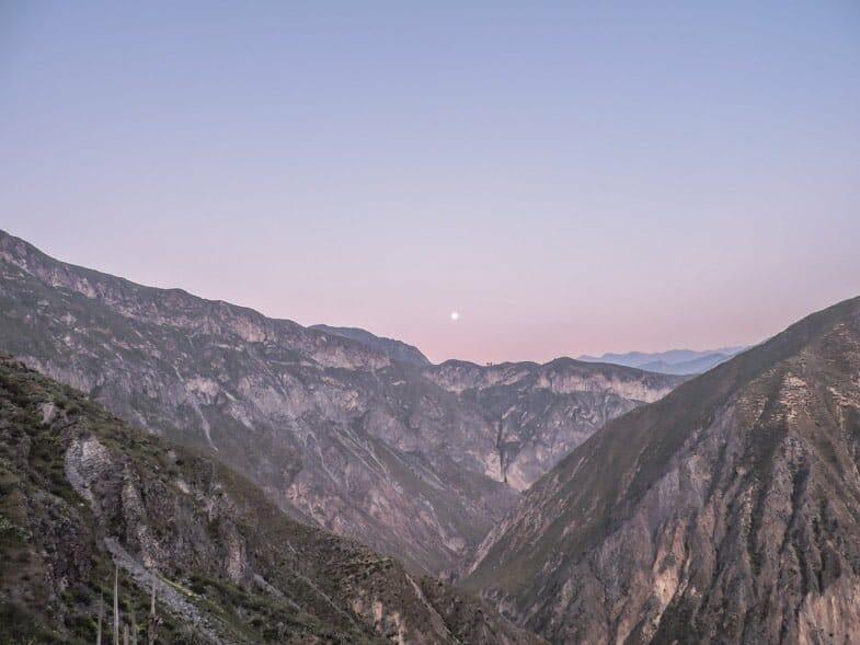 Colca Canyon sunrise