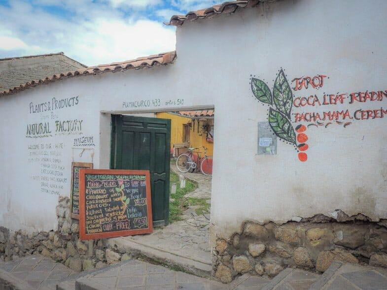 Cusco vegetarian food - Natural Factory