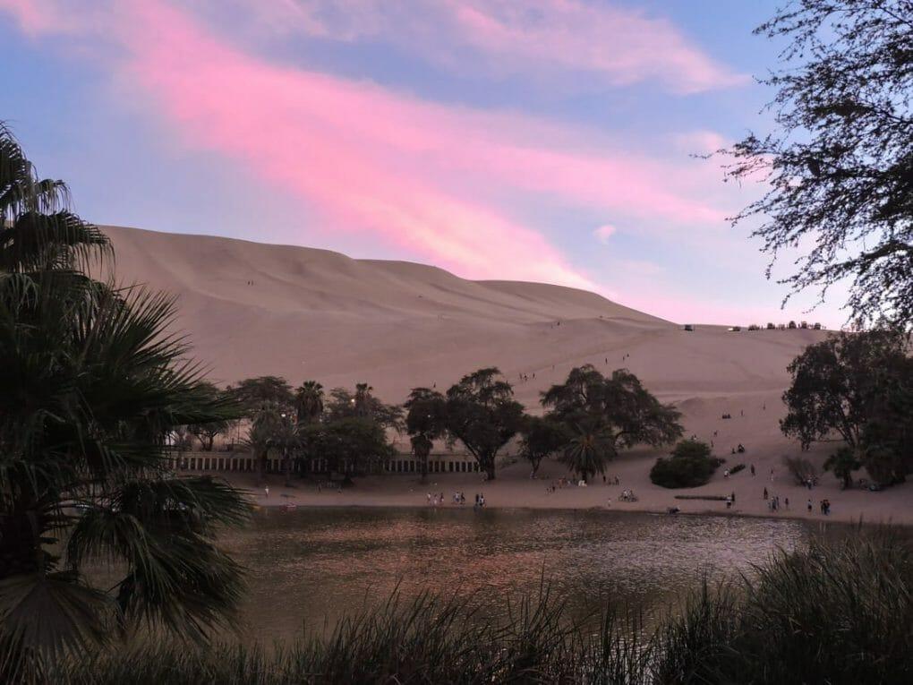 Sunset in Huacachina Peru