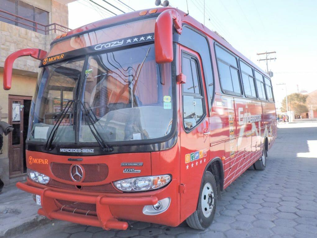 La Paz to Uyuni by Bus