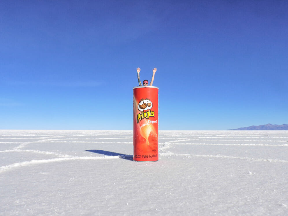 Pringles Salt Flats in Bolivia