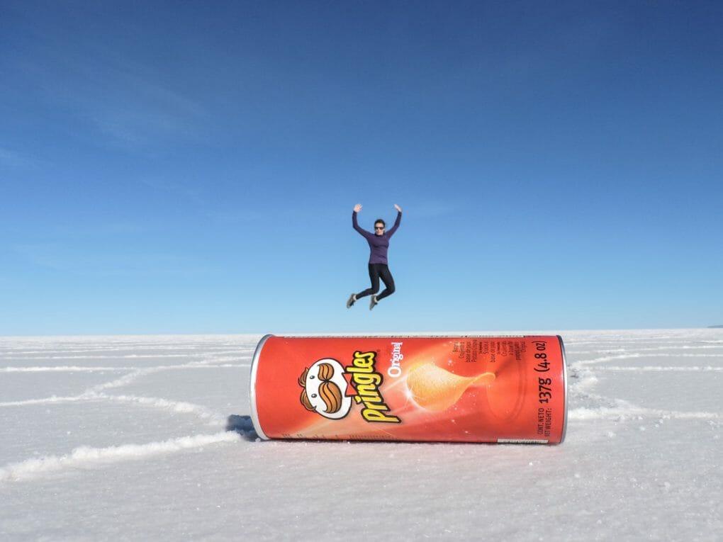 Pringles and Gemma Salt Flats in Bolivia