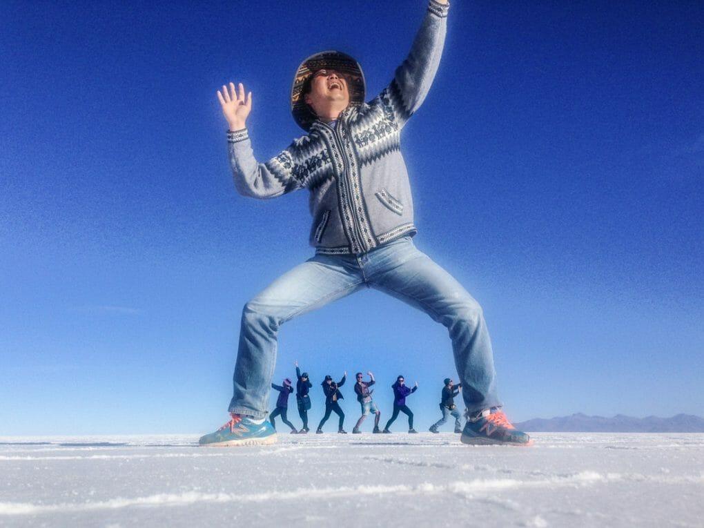 Salay de Uyuni Salt Flats Silly Pictures Giant Bolivia_