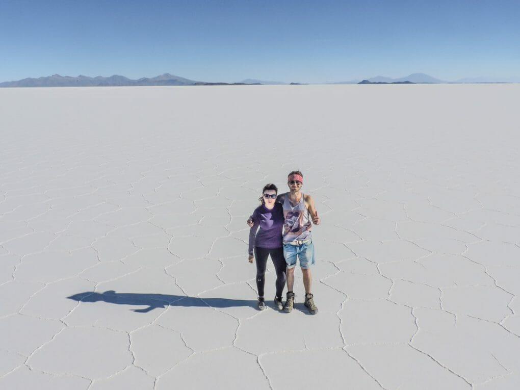 Salt Flats in Bolivia Gemma and Craig_