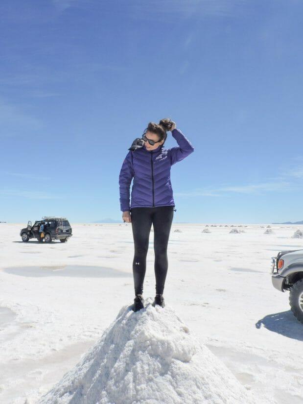 Uyuni Salt Flats Salt Mountain Bolivia_