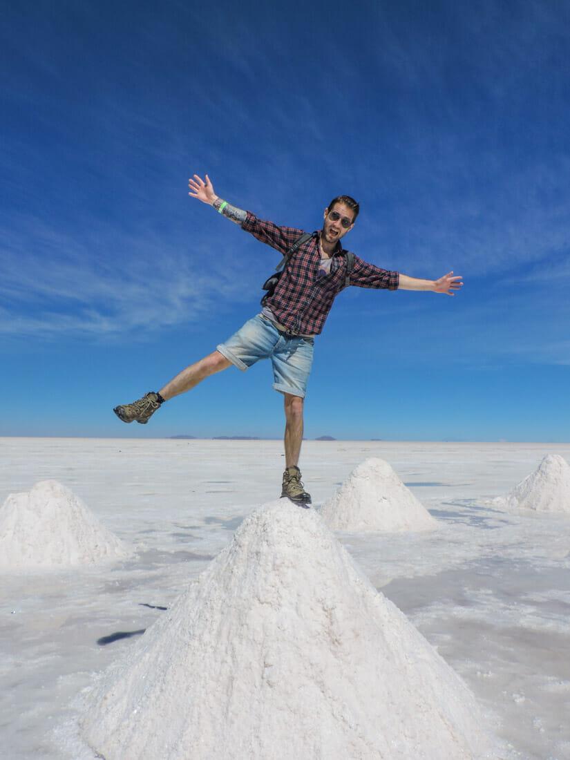Uyuni Salt Flats Salt Mountains Bolivia_