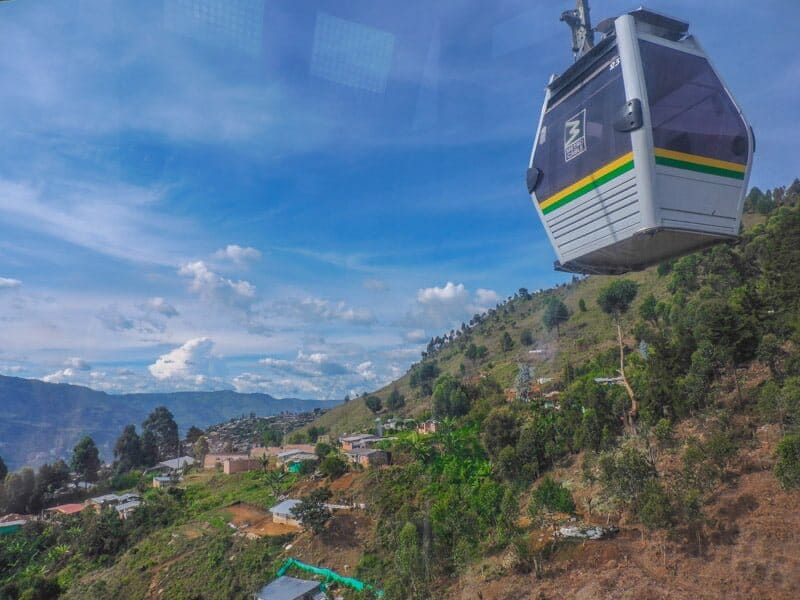 Metrocable Cars   Medellin Itinerary