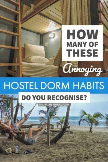Tips on how to survive hostels | Hostel dorms | Backpacking | Hostel dorm tips | Budget travel