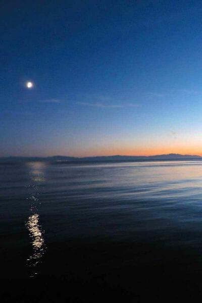 Davis Bay BC Sunset Slow Travel Pin