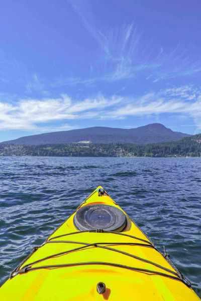 Kayaking Gibsons BC Sunset Slow Travel Pin