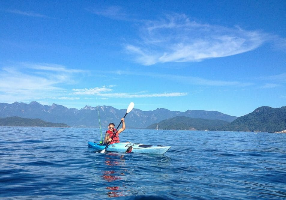 Kayaking Gibsons Sunshine Coast British Columbia