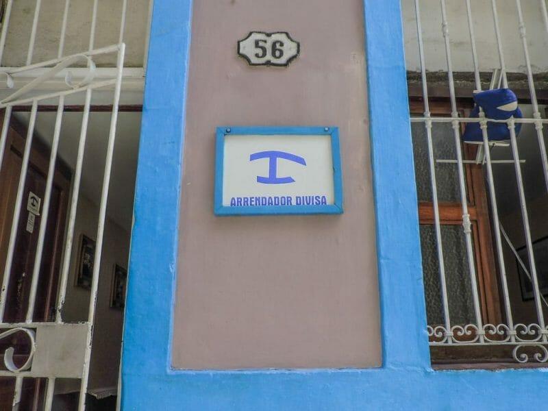 Casas Particulares in Cuba Symbol on House in Havana