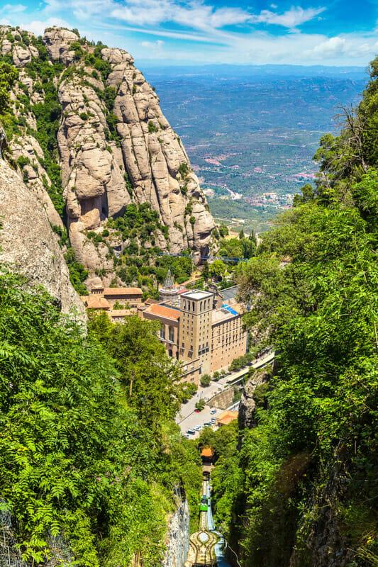 Montserrat funicular railway Spain