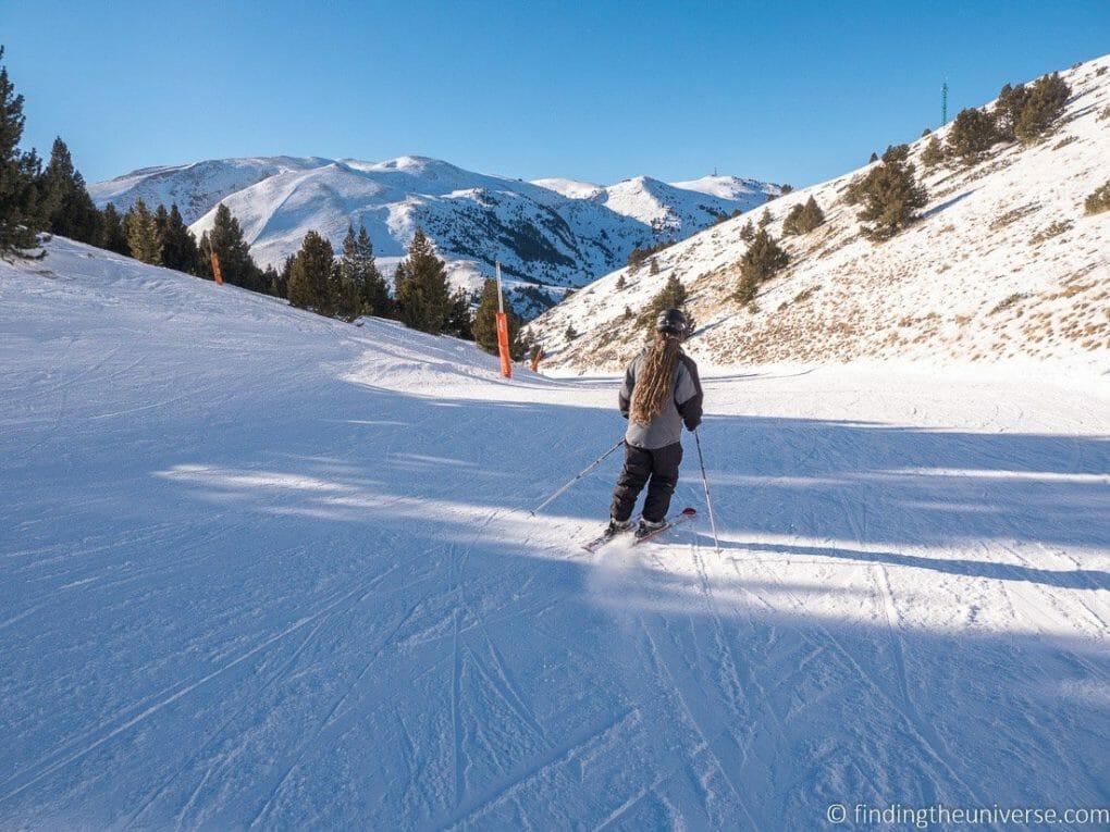 La Cerdanya skiing near Barcelona