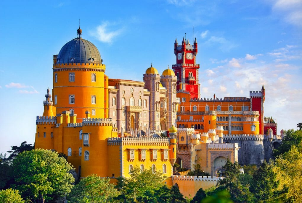 Palace of Pena in Sintra. Lisbon
