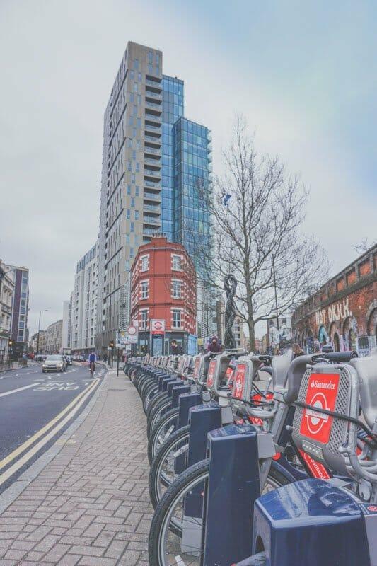 Santander London Bike Scheme Docking Station