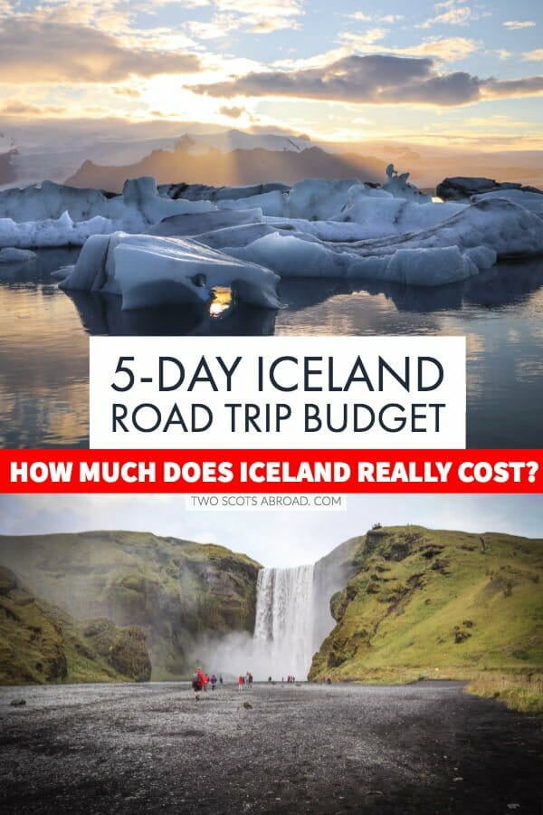 Cheap Iceland tips + Iceland budget food, activities and accommodation cost breakdown .