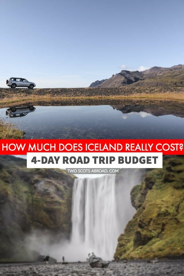 Iceland travel costs for flights, accommodation, car rental, gas, activities and food