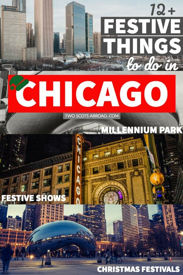 Things to do in Chicago at Christmas. Christmas activities in Winter in Chicago, USA