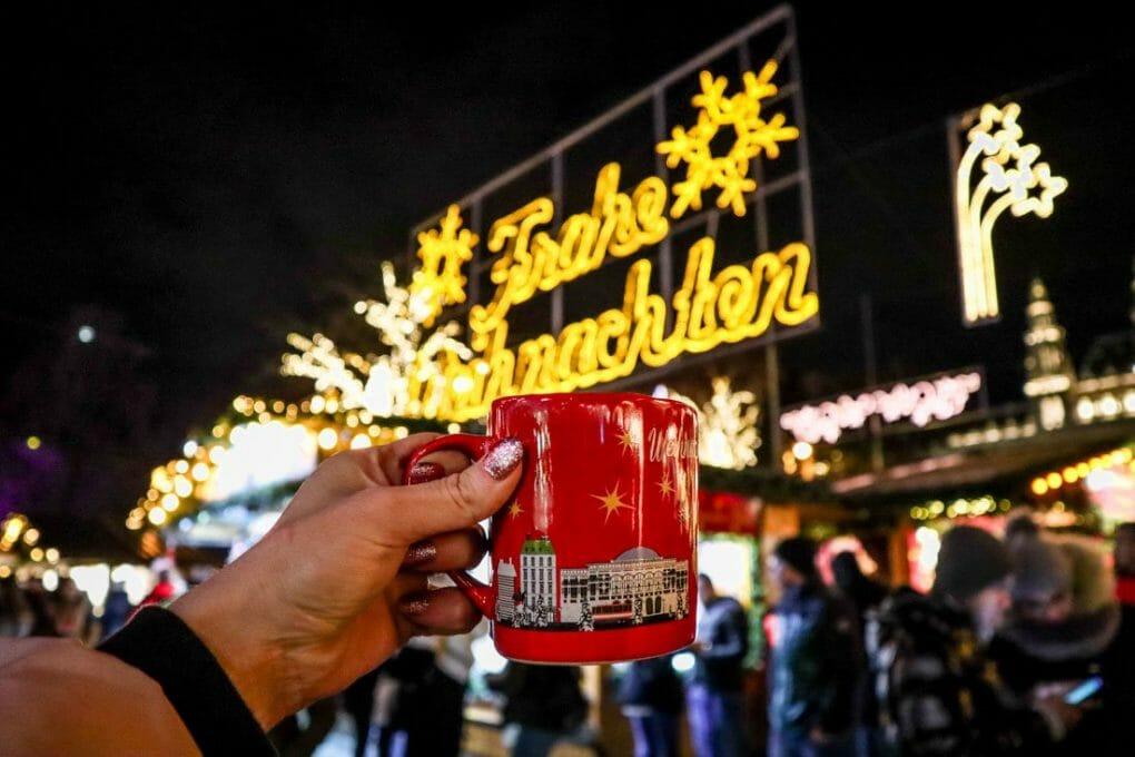 Vienna in Winter December Christmas World on Rathausplatz