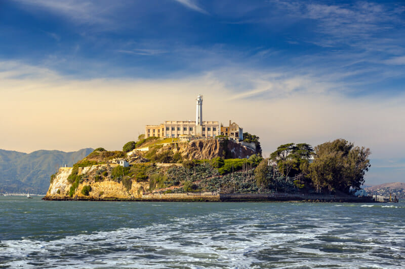 Alcatraz on island San Francisco