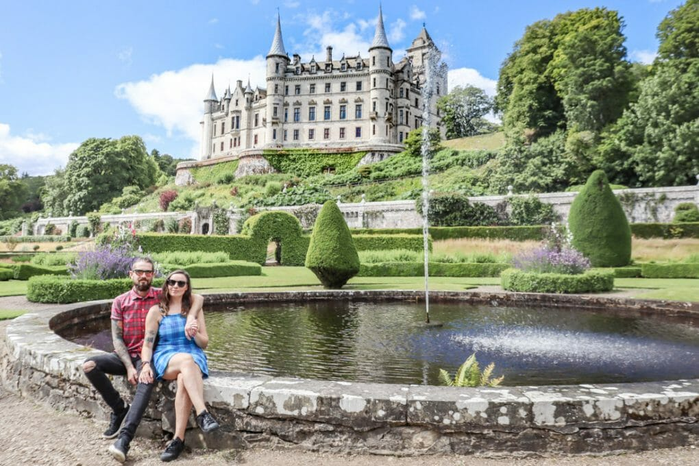 Dunrobin Castle Craig Gemma Fountain gardens North Coast 500 Scotland_