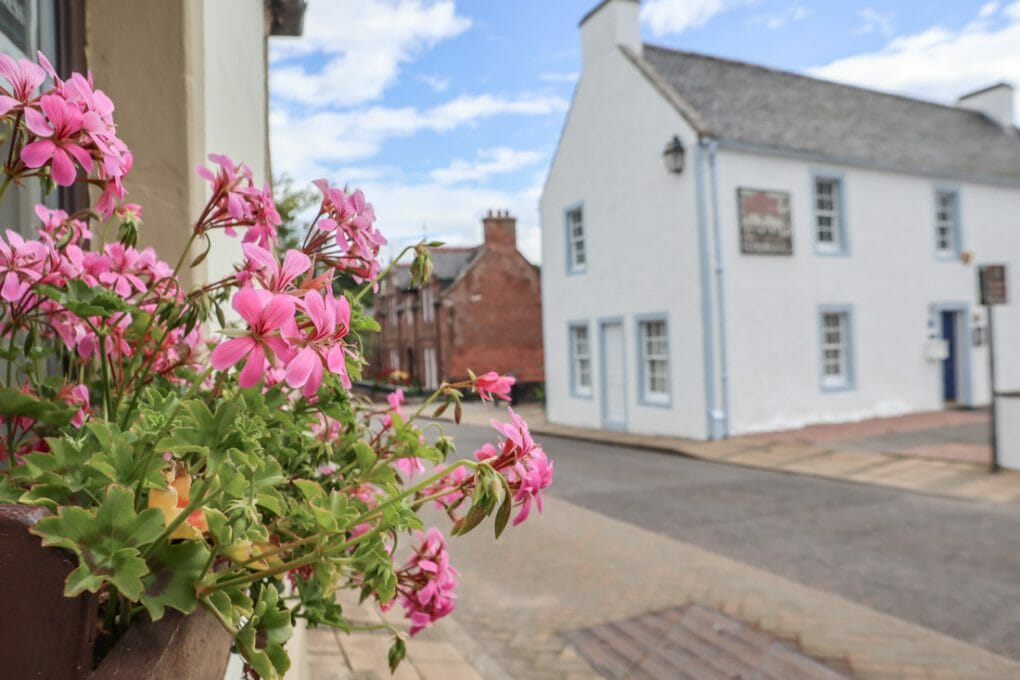 Groam House Museum Flowers Fortrose on North Coast 500 in Scotland_