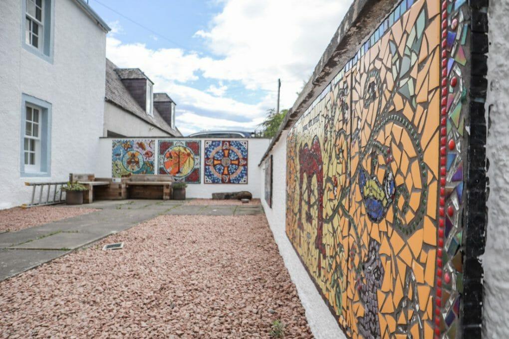 Groam House Museum Mosiacs on North Coast 500 in Scotland_