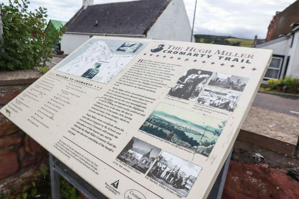 Hugh Miller Trail Cromarty on North Coast 500 in Scotland_