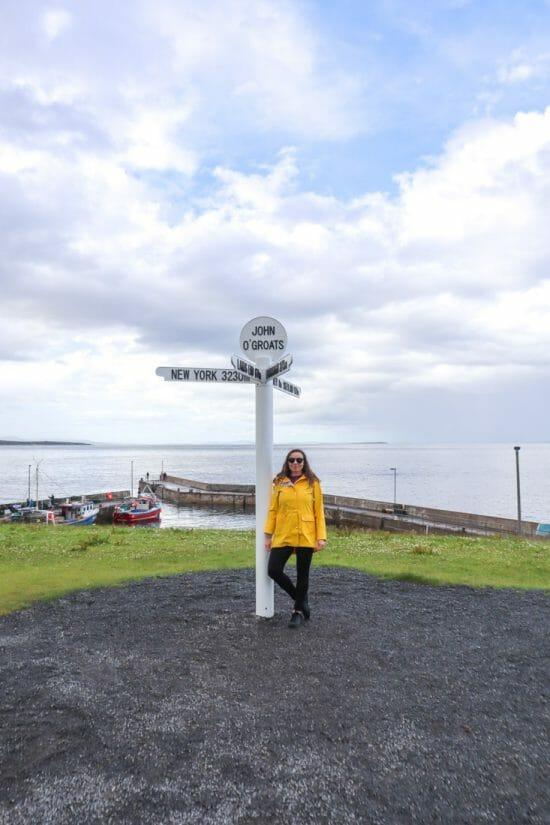 John o Groats signpost Gem North Coast 500 Scotland_