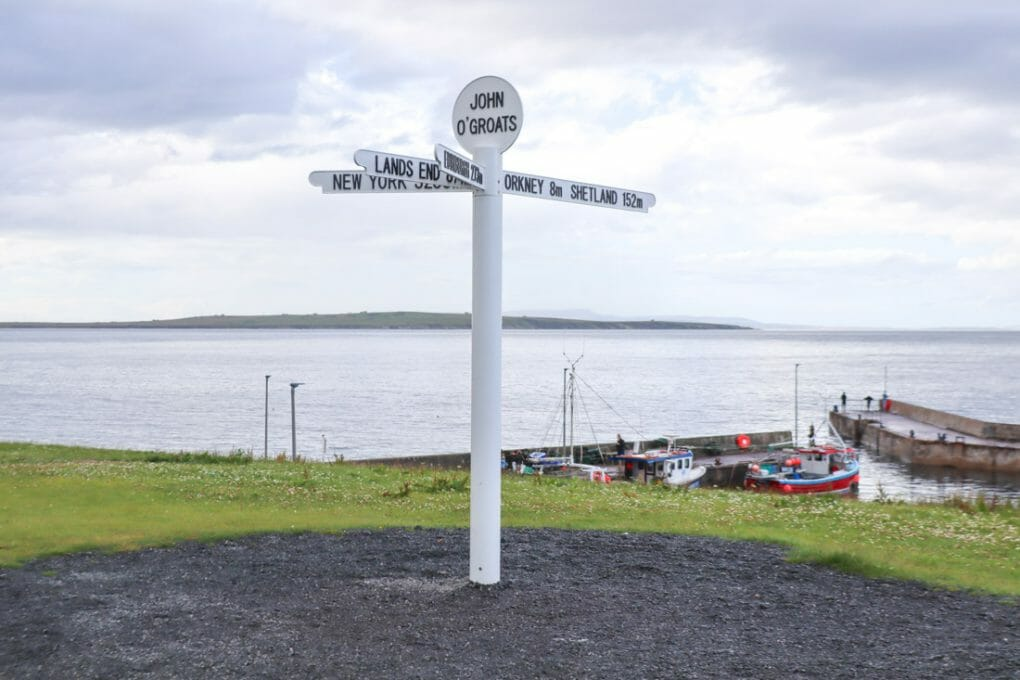 John o Groats signpost North Coast 500 Scotland_