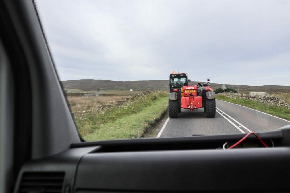Tractor Road North Coast 500 Scotland_