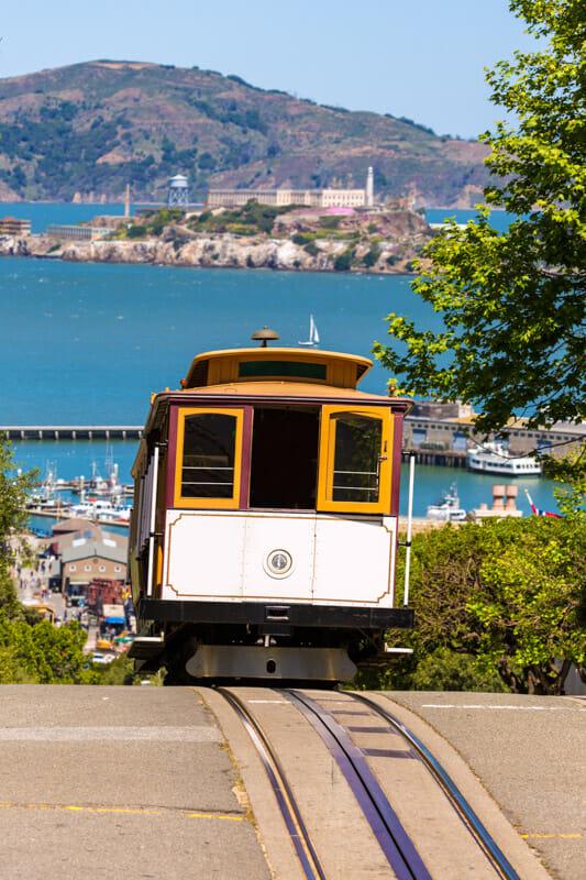 Trolly riding in San Francisco