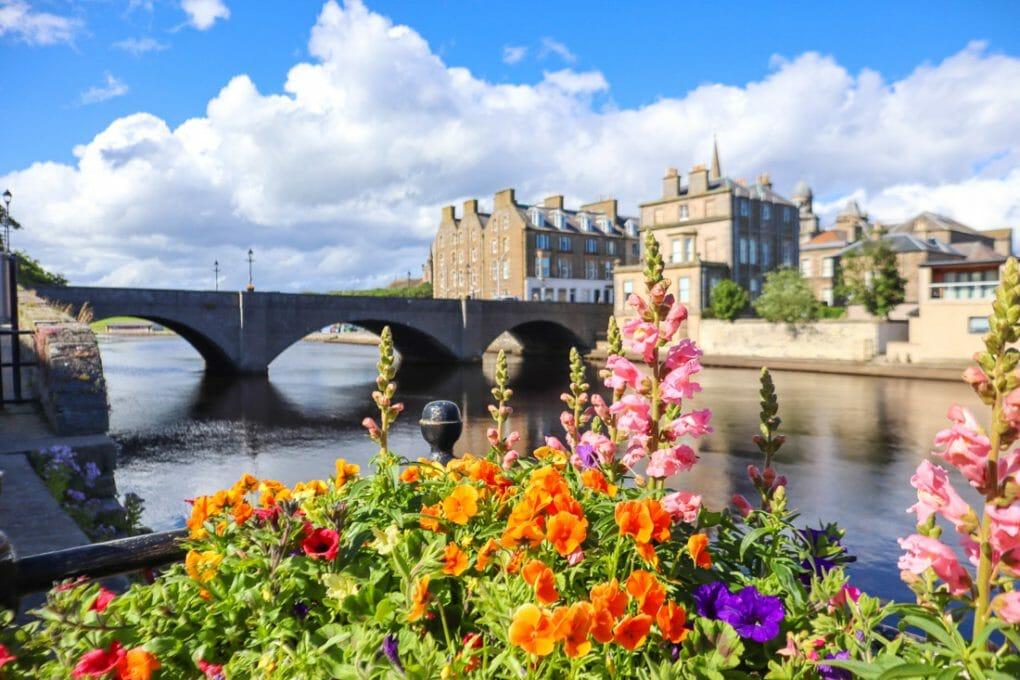 Wick Bridge Flowers North Coast 500 Scotland_
