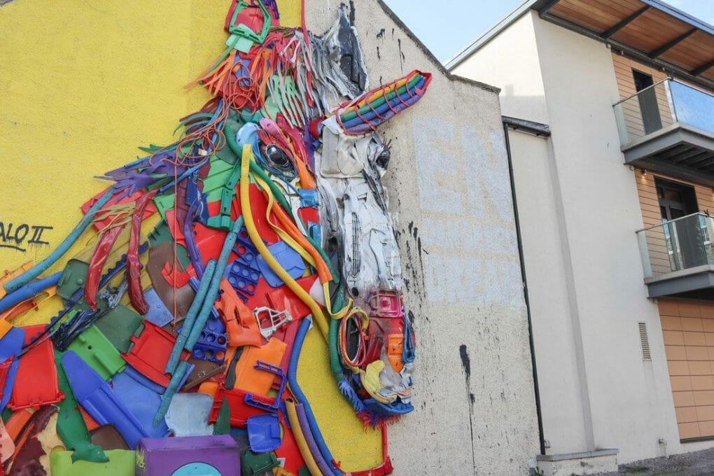 Bordalo II Unicorn Aberdeen Union Row Street Art