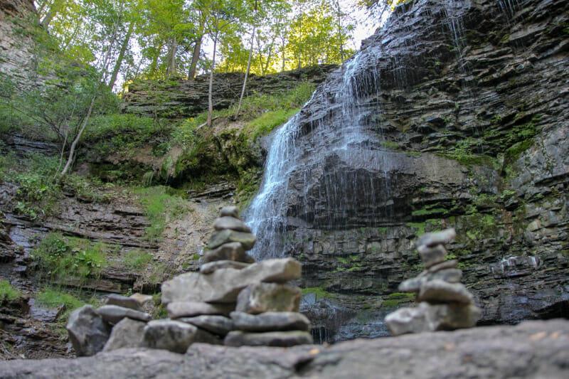 Hamilton waterfall in Canada