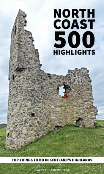 North Coast 500 Map NC500 route Scotland | Scotland's North Coast 500 Itinerary | NC500 Guide | NC500 itinerary North coast 500 | North Coast 500 Scotland | North Coast 500 map | North Coast 500 scotland road trips | Scottish Highlands | Road trips | North Coast 500 tips | North Coast 500 travel | nc500 Scotland | nc500 road trips | nc500 route | nc500 beautiful | nc500 accommodation | Abandoned castles Scotland | Small town trave