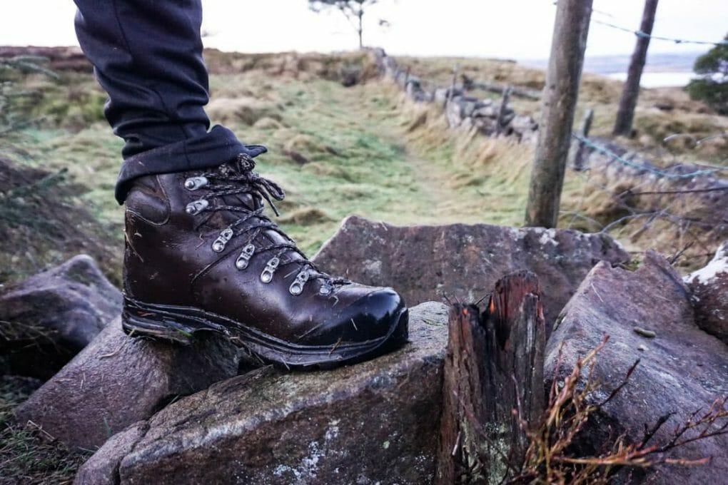 Scarpa leather hiking boot._