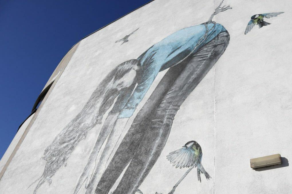 Snik Nuart Aberdeen girl, rope, birds