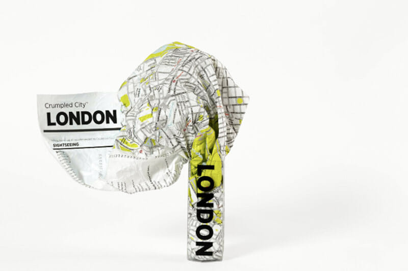 London Crumpled Map in Plastic Packaging_