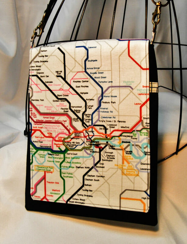 London tube map crossover bag_