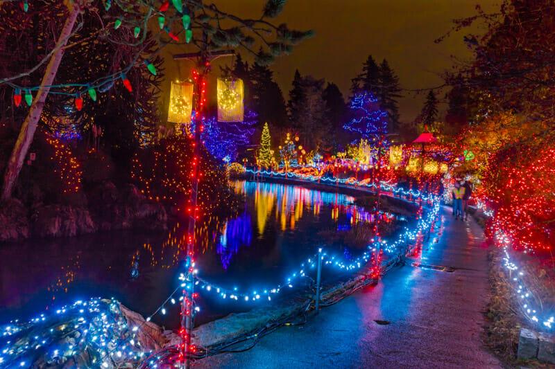 Christmas Lights Botanic Gardens Vancouver
