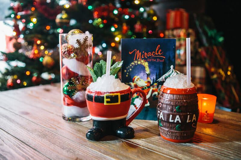 Christmas mugs at The Eleanor Miracle on 5th St Austin