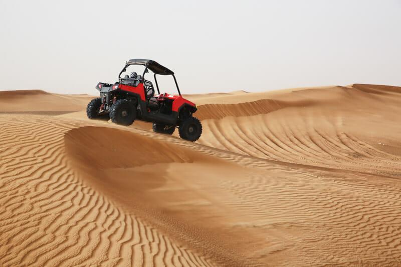 Dubai quads on desert sand