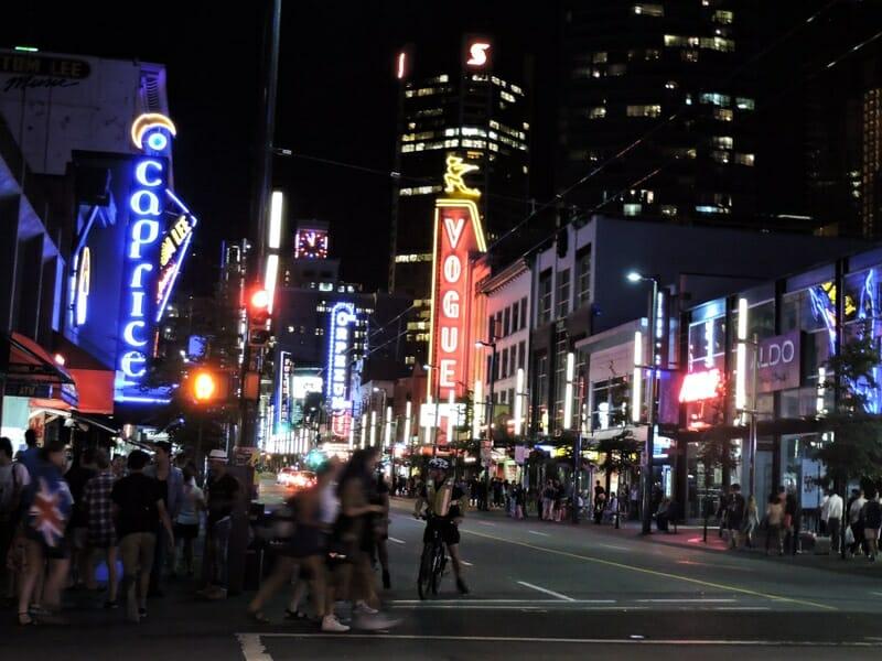Granville Street lights Vancouver