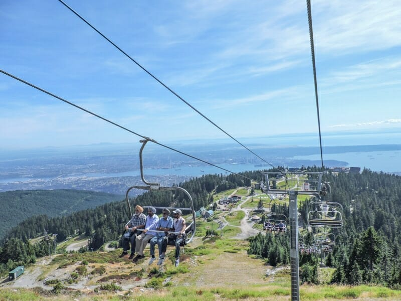 Grouse Mountain lifts blue skies_