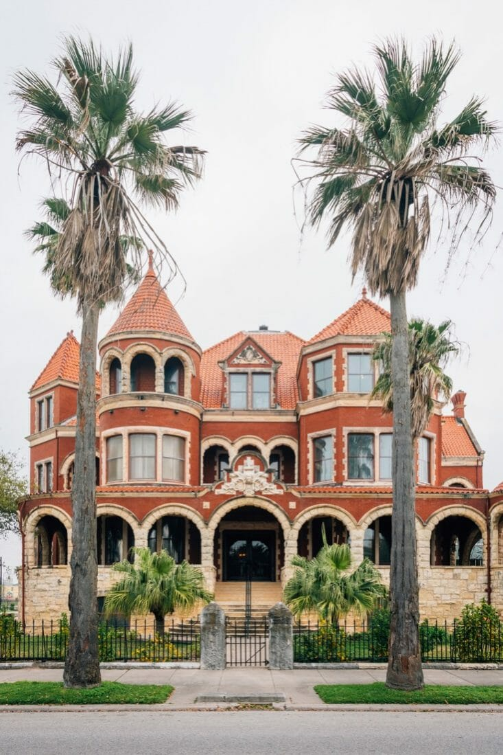 The Moody Mansion, in Galveston, Texas.